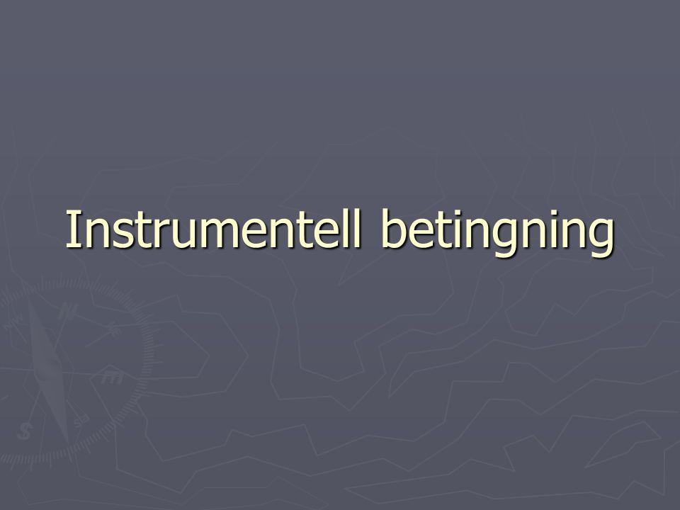 Instrumentell betingning