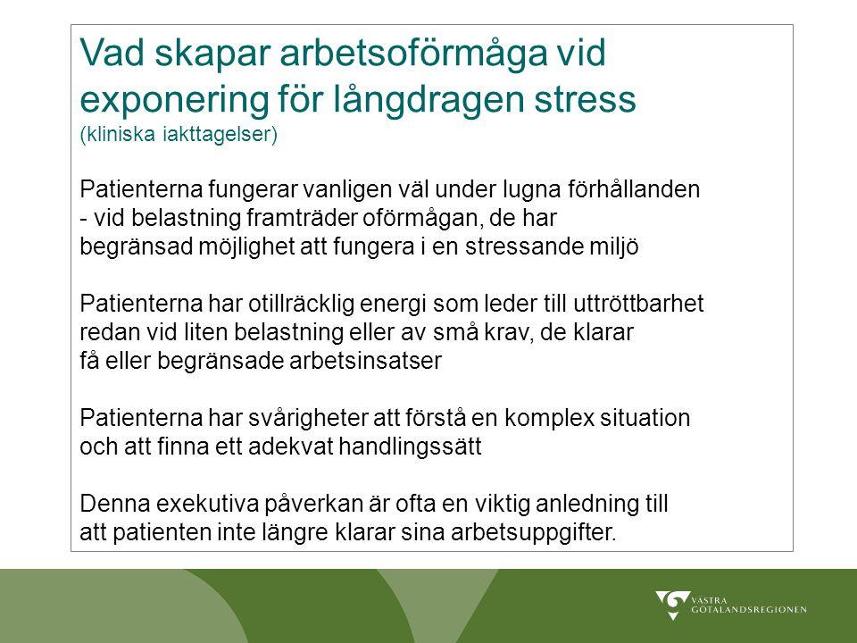 Vad skapar arbetsoförmåga vid exponering för långdragen stress