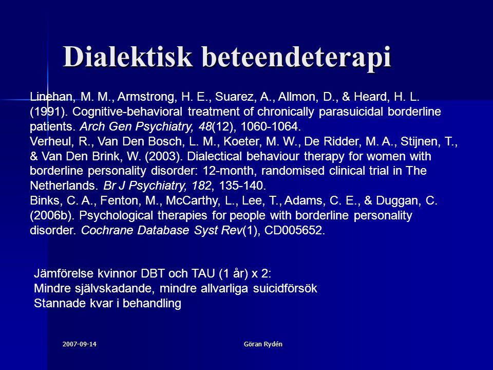 Dialektisk beteendeterapi