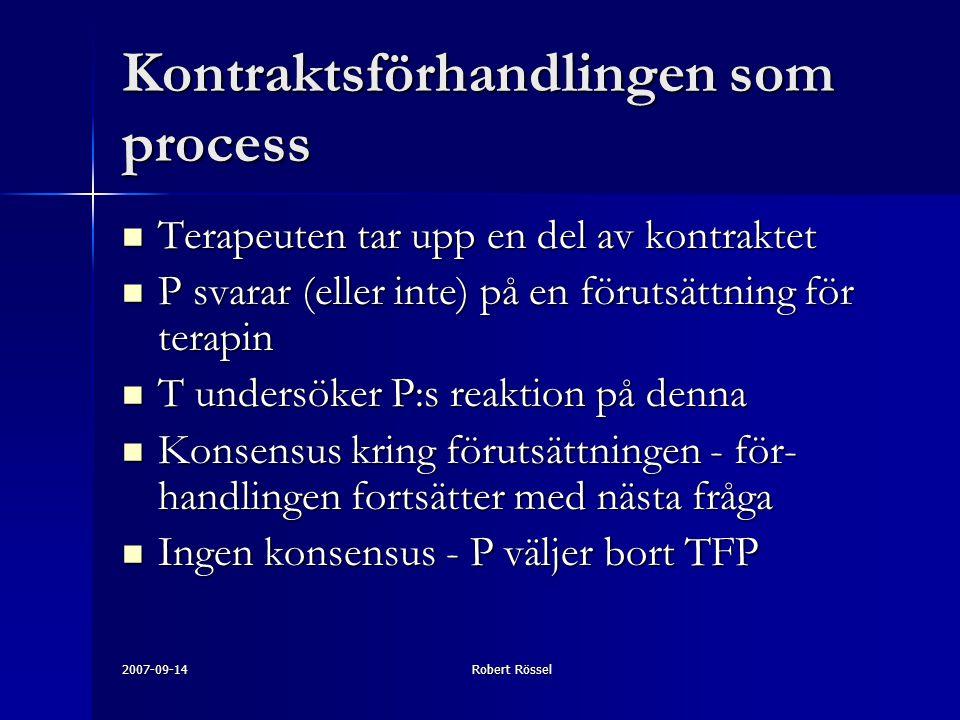 Kontraktsförhandlingen som process