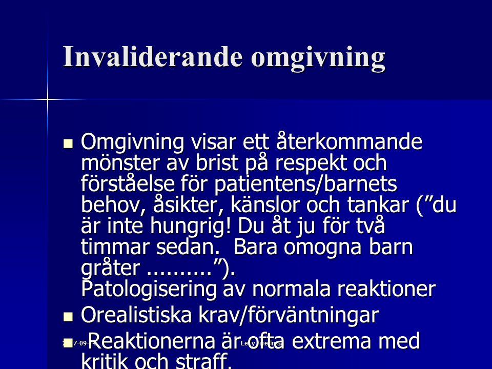 Invaliderande omgivning