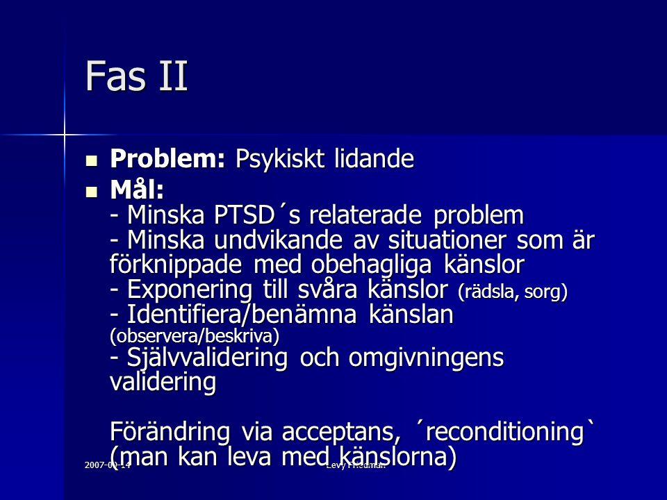 Fas II Problem: Psykiskt lidande