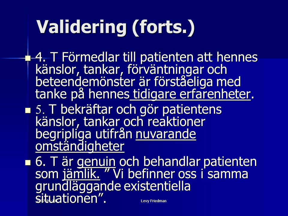 Validering (forts.)