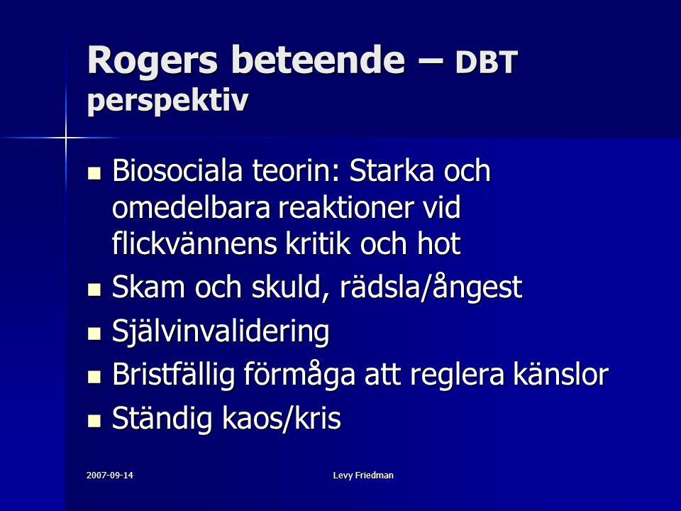 Rogers beteende – DBT perspektiv