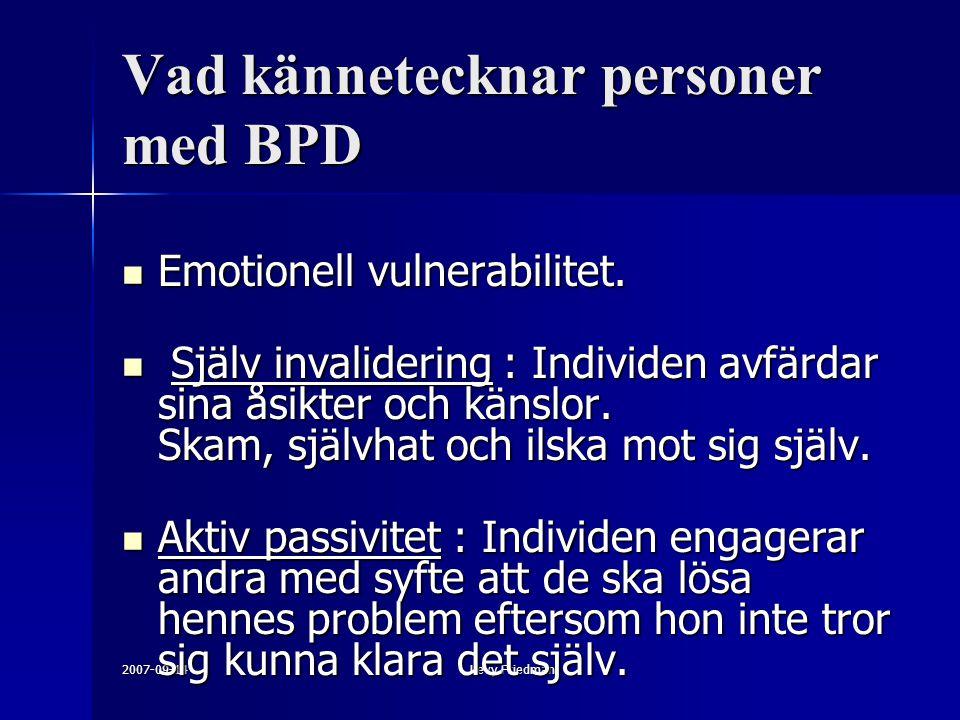 Vad kännetecknar personer med BPD