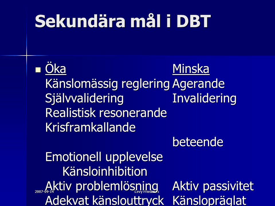 Sekundära mål i DBT