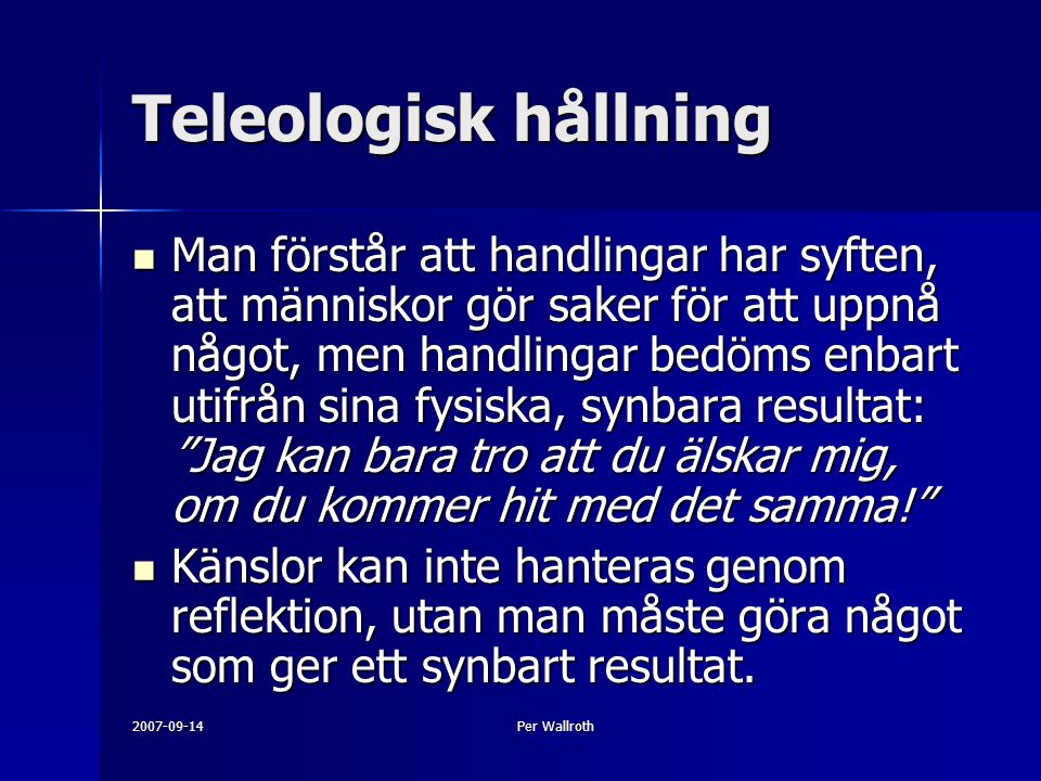 Teleologisk hållning