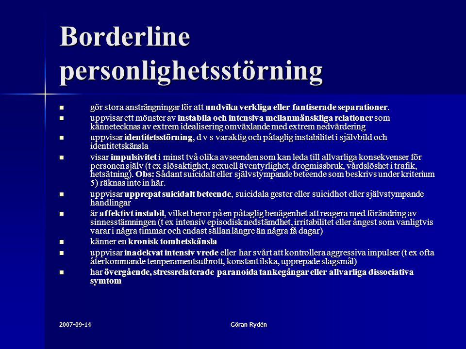 Borderline personlighetsstörning