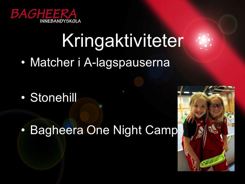 Kringaktiviteter Matcher i A-lagspauserna Stonehill