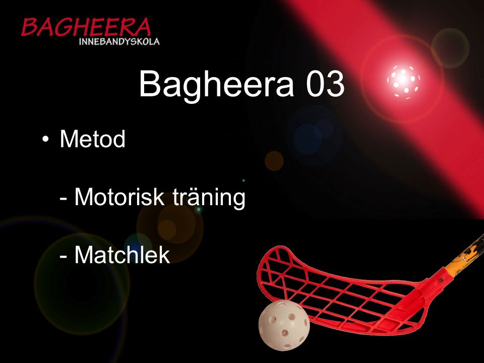 Bagheera 03 Metod - Motorisk träning - Matchlek