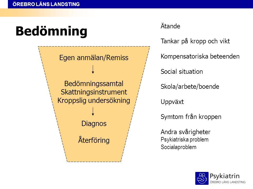 Bedömning Egen anmälan/Remiss Bedömningssamtal Skattningsinstrument
