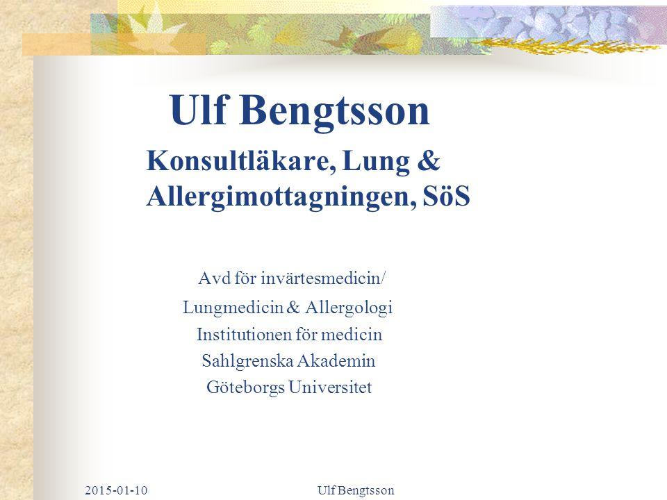 Konsultläkare, Lung & Allergimottagningen, SöS