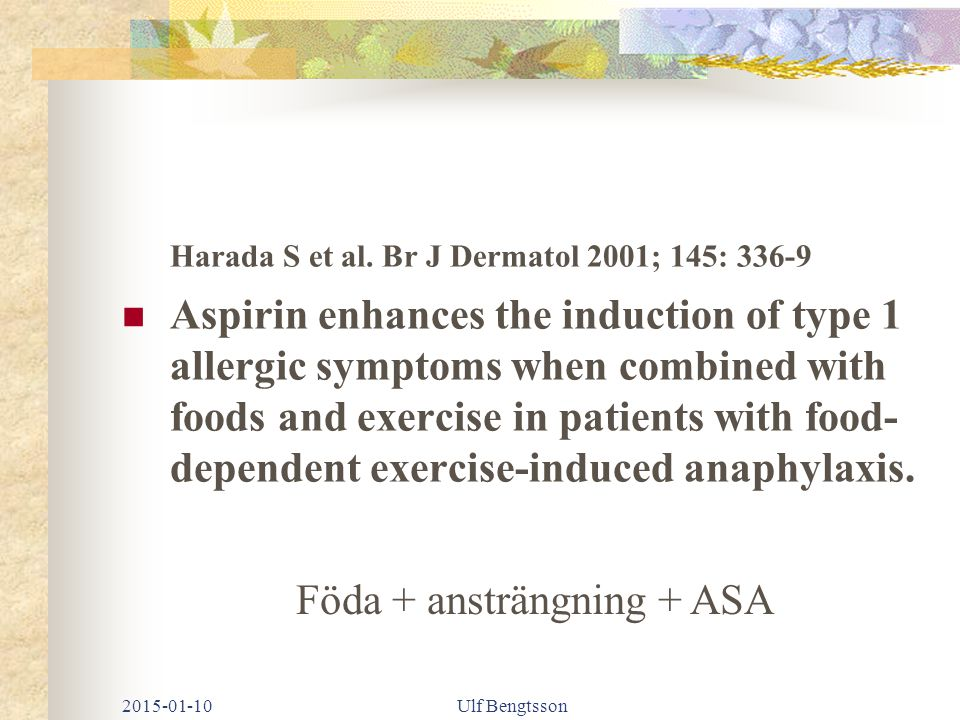 Harada S et al. Br J Dermatol 2001; 145: 336-9