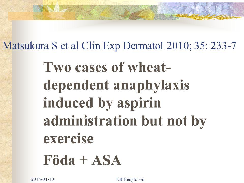 Matsukura S et al Clin Exp Dermatol 2010; 35: 233-7