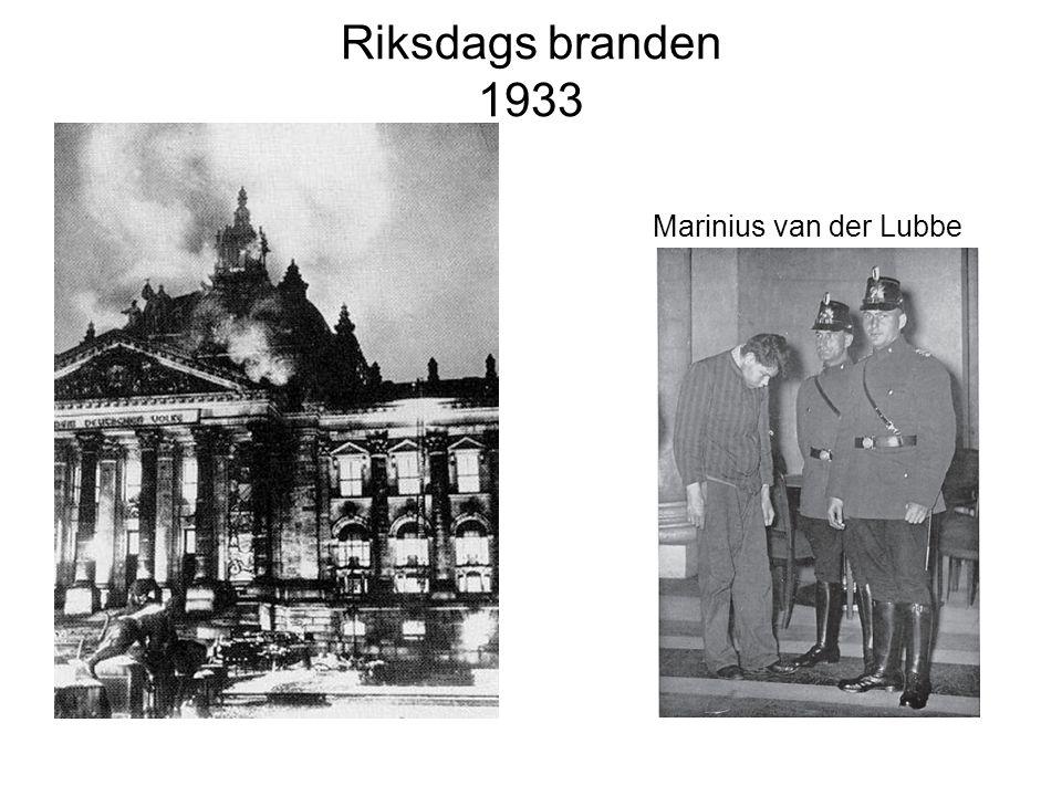 Riksdags branden 1933 Marinius van der Lubbe