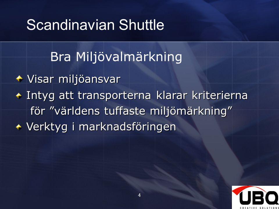 Scandinavian Shuttle Bra Miljövalmärkning Visar miljöansvar