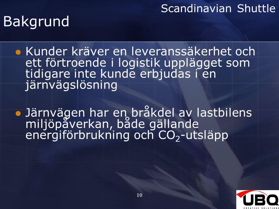 Scandinavian Shuttle Bakgrund.