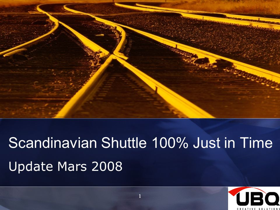Scandinavian Shuttle 100% Just in Time