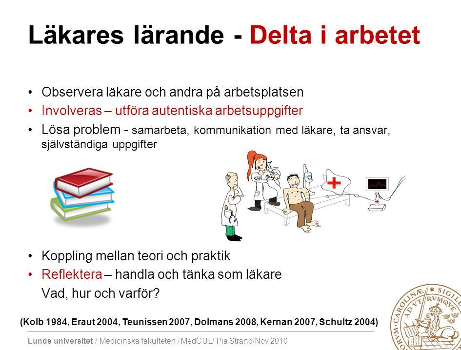 Läkares lärande - Delta i arbetet