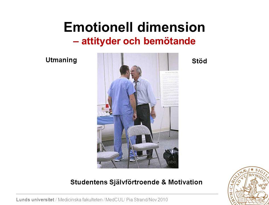 Emotionell dimension – attityder och bemötande