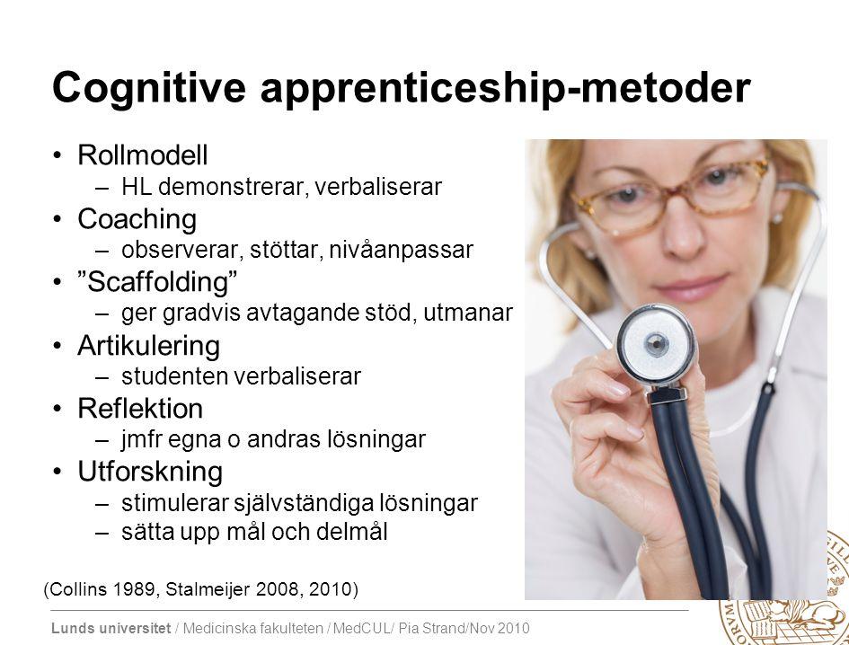 Cognitive apprenticeship-metoder