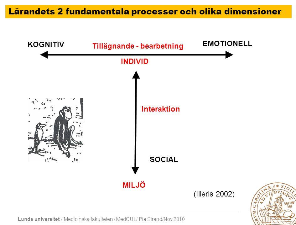 Lärandets 2 fundamentala processer och olika dimensioner