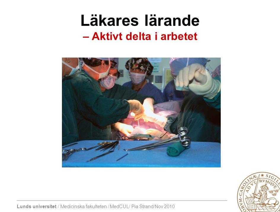 Läkares lärande – Aktivt delta i arbetet