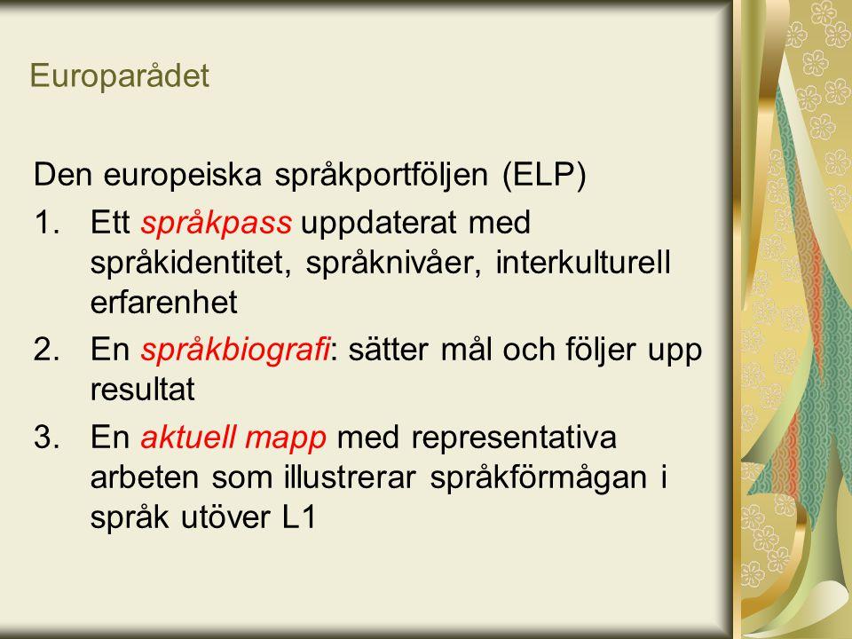 Den europeiska språkportföljen (ELP)
