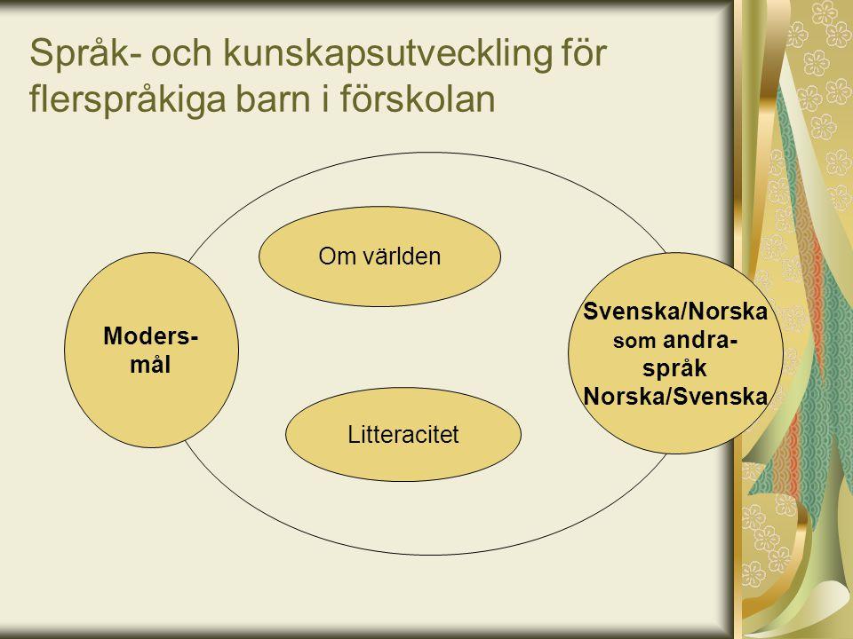Språk- och kunskapsutveckling för flerspråkiga barn i förskolan