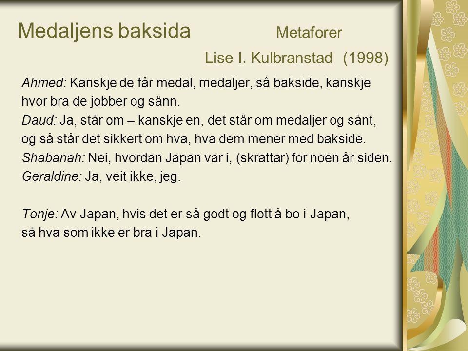 Medaljens baksida Metaforer Lise I. Kulbranstad (1998)