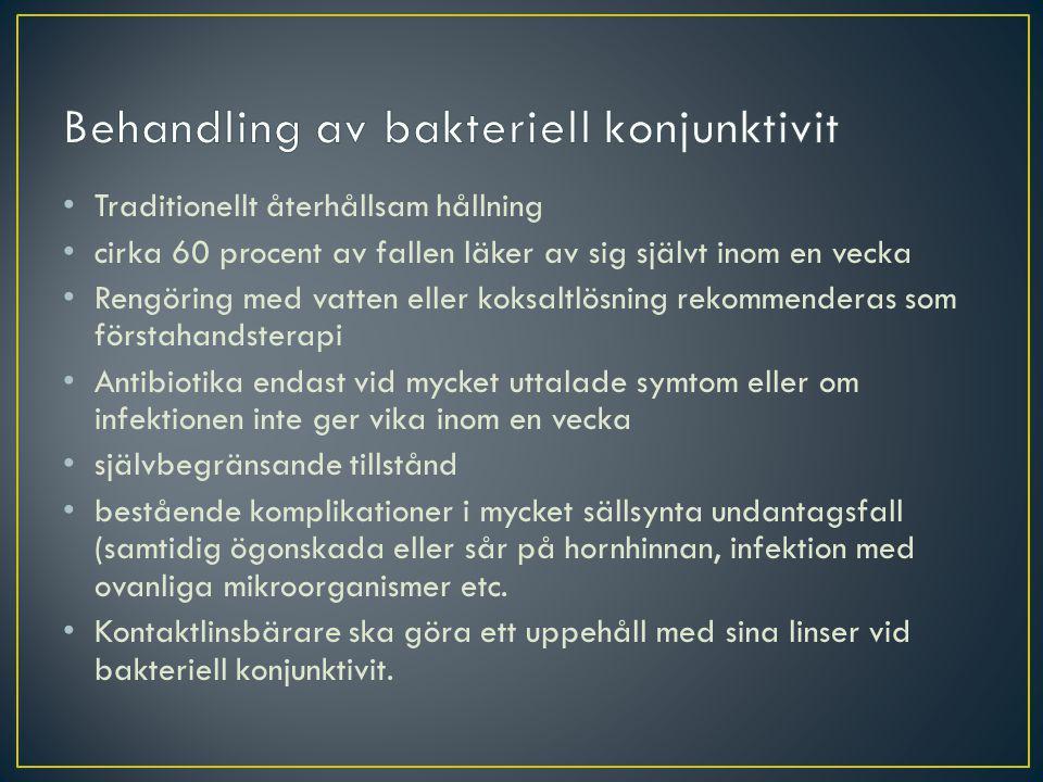 Behandling av bakteriell konjunktivit