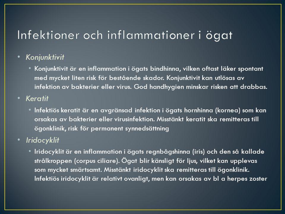 Infektioner och inflammationer i ögat