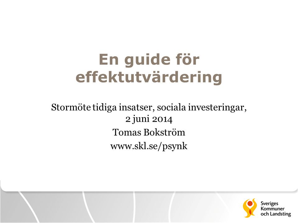En guide för effektutvärdering