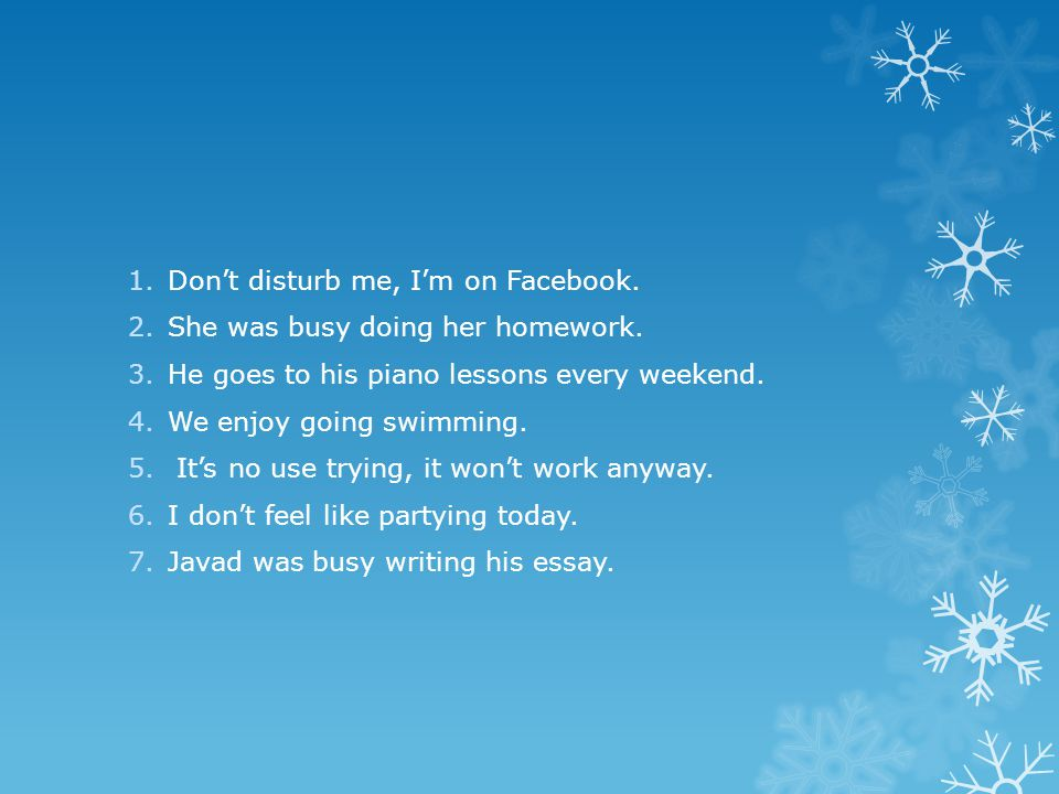 Don't disturb me, I'm on Facebook.