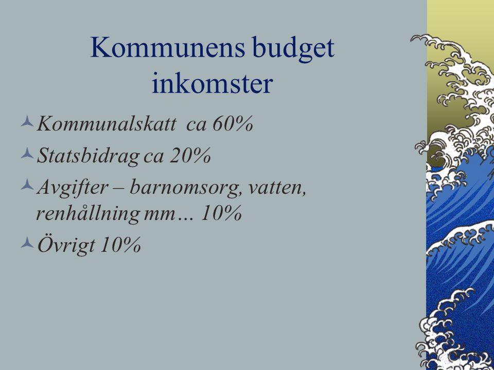 Kommunens budget inkomster