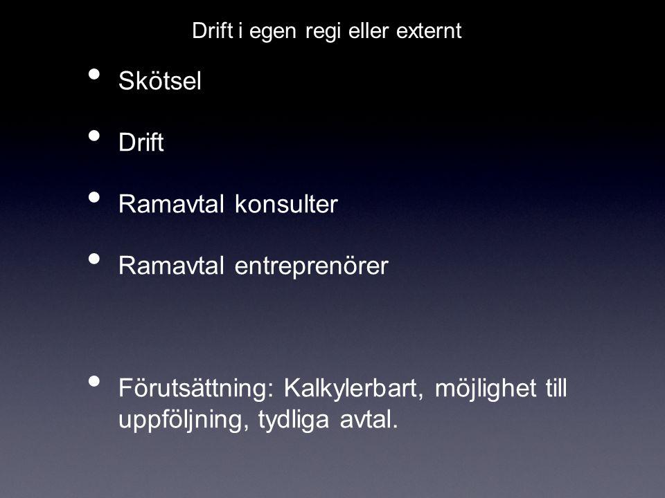 Ramavtal entreprenörer