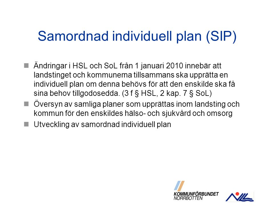 Samordnad individuell plan (SIP)