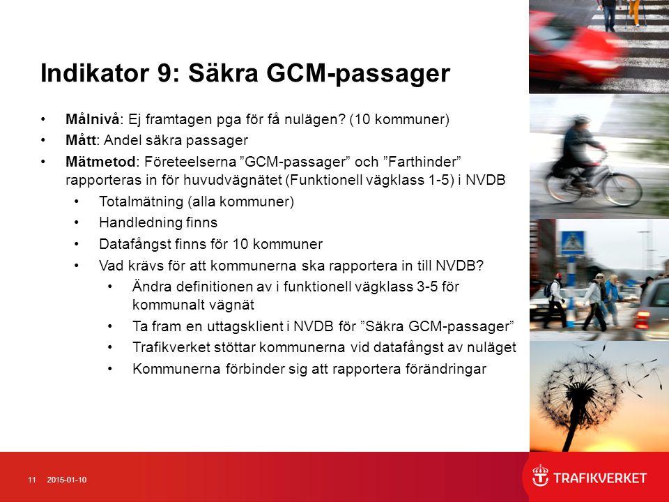 Indikator 9: Säkra GCM-passager