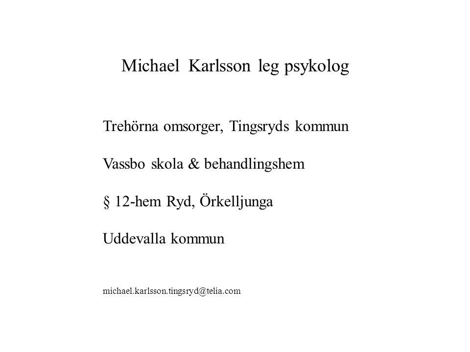 Michael Karlsson leg psykolog