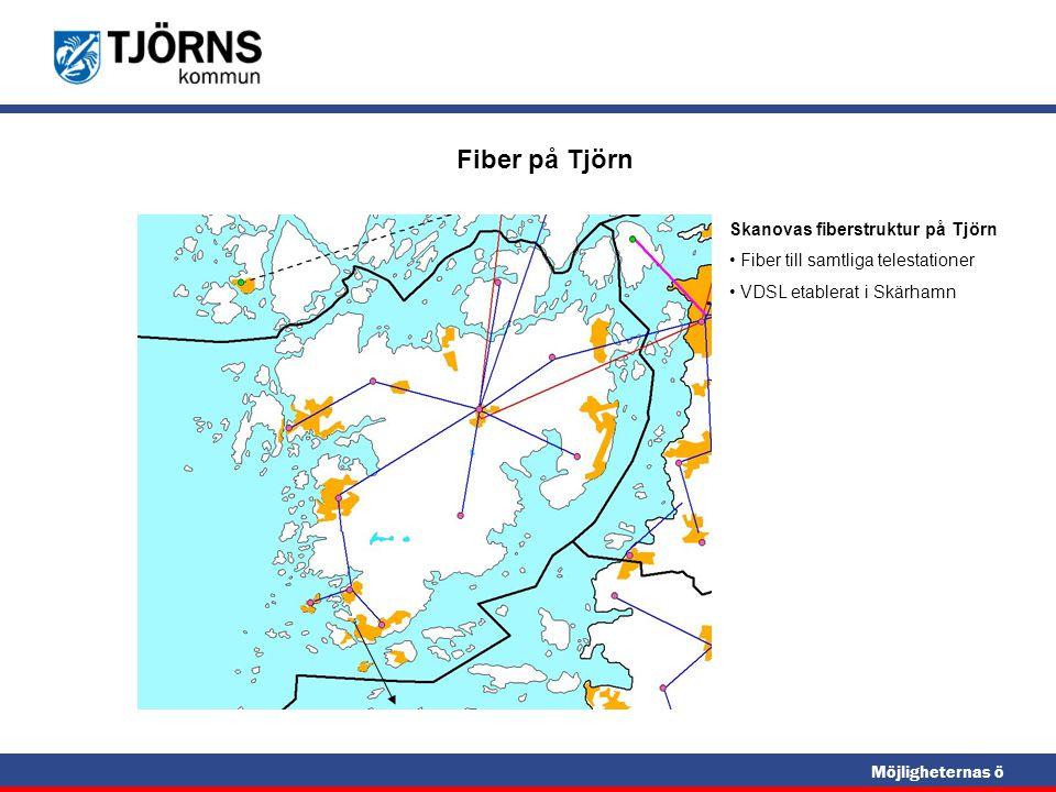 Fiber på Tjörn Skanovas fiberstruktur på Tjörn