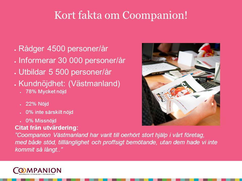 Kort fakta om Coompanion!