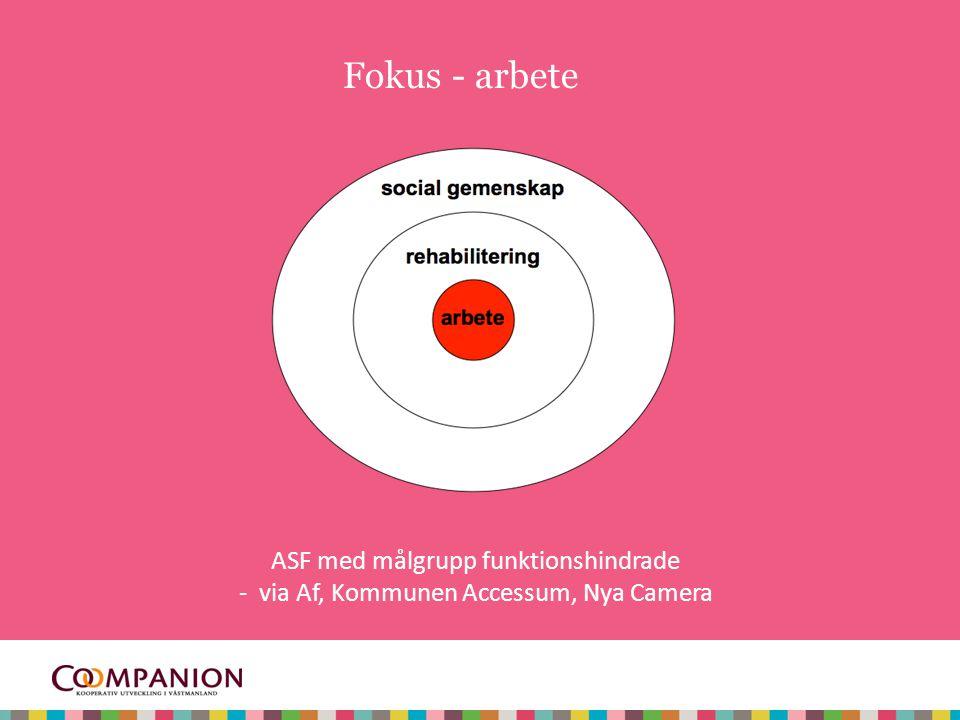 7 Fokus - arbete ASF med målgrupp funktionshindrade - via Af, Kommunen Accessum, Nya Camera