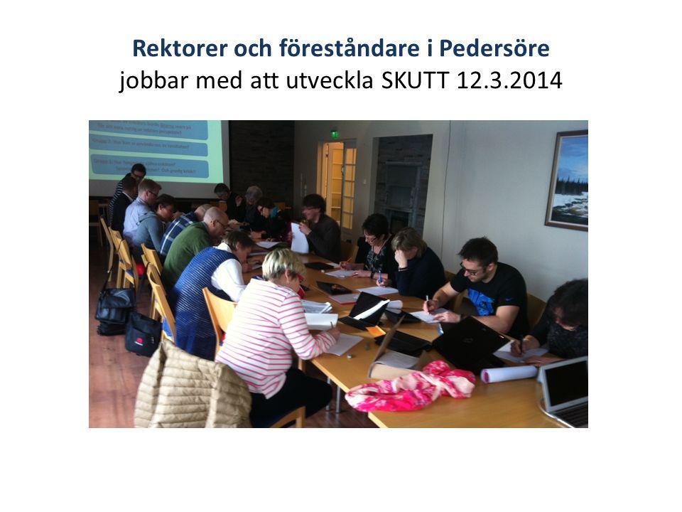 Rektorer och föreståndare i Pedersöre jobbar med att utveckla SKUTT 12