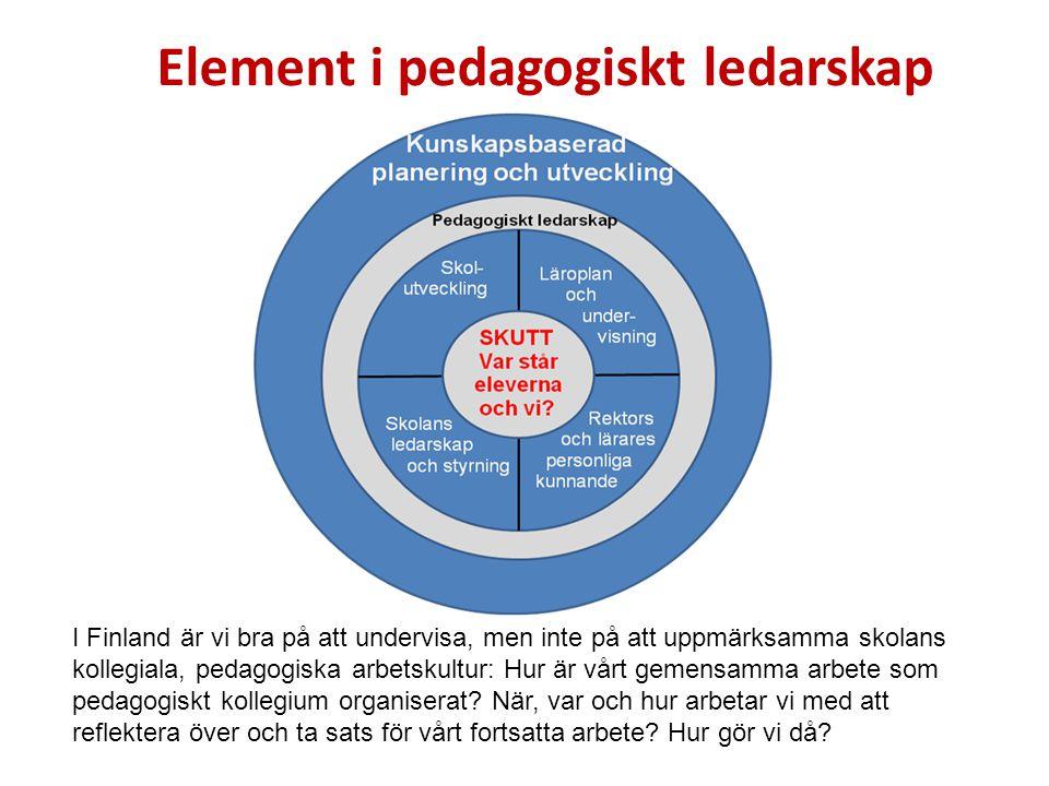 Element i pedagogiskt ledarskap
