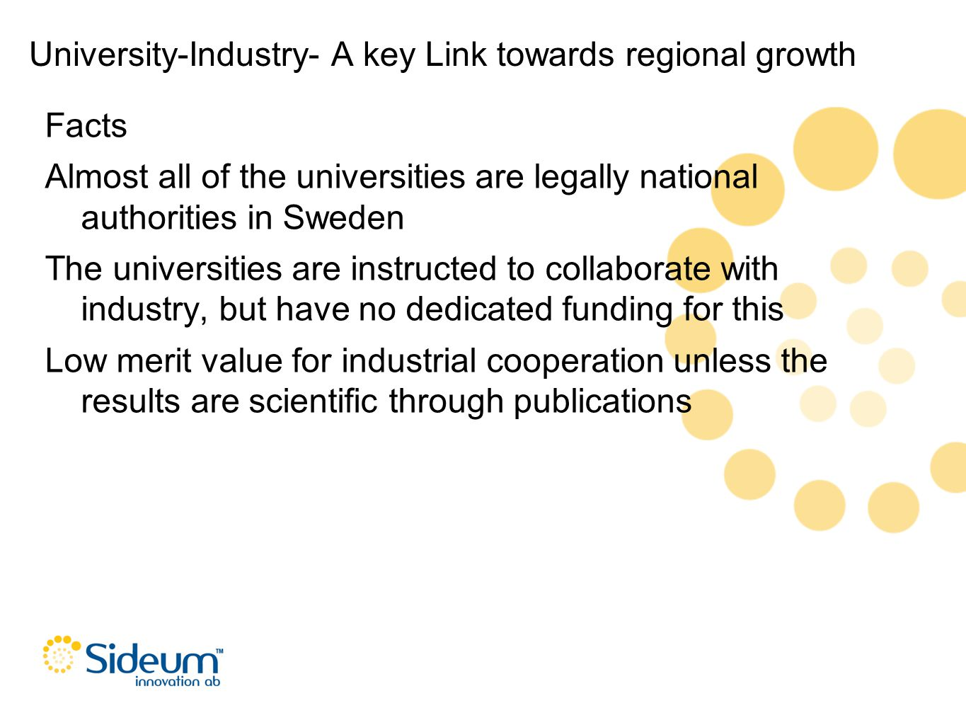 University-Industry- A key Link towards regional growth