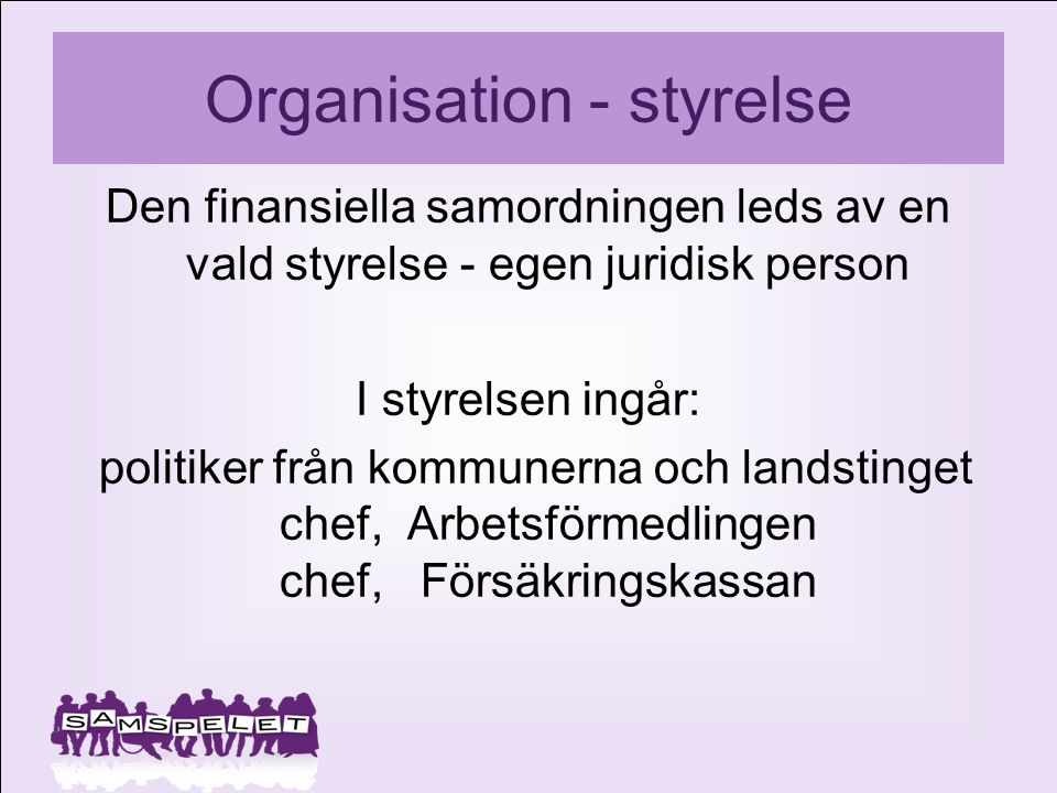 Organisation - styrelse