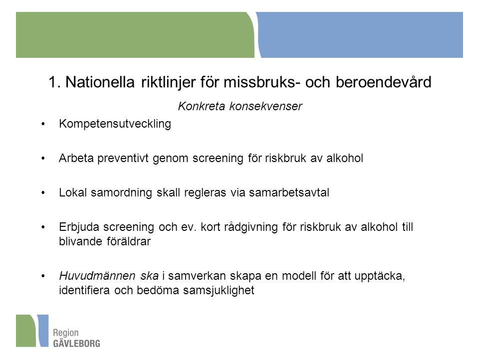 1. Nationella riktlinjer för missbruks- och beroendevård
