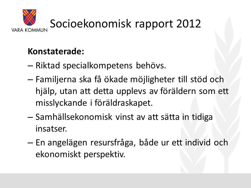 Socioekonomisk rapport 2012