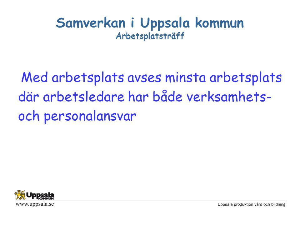 Samverkan i Uppsala kommun Arbetsplatsträff