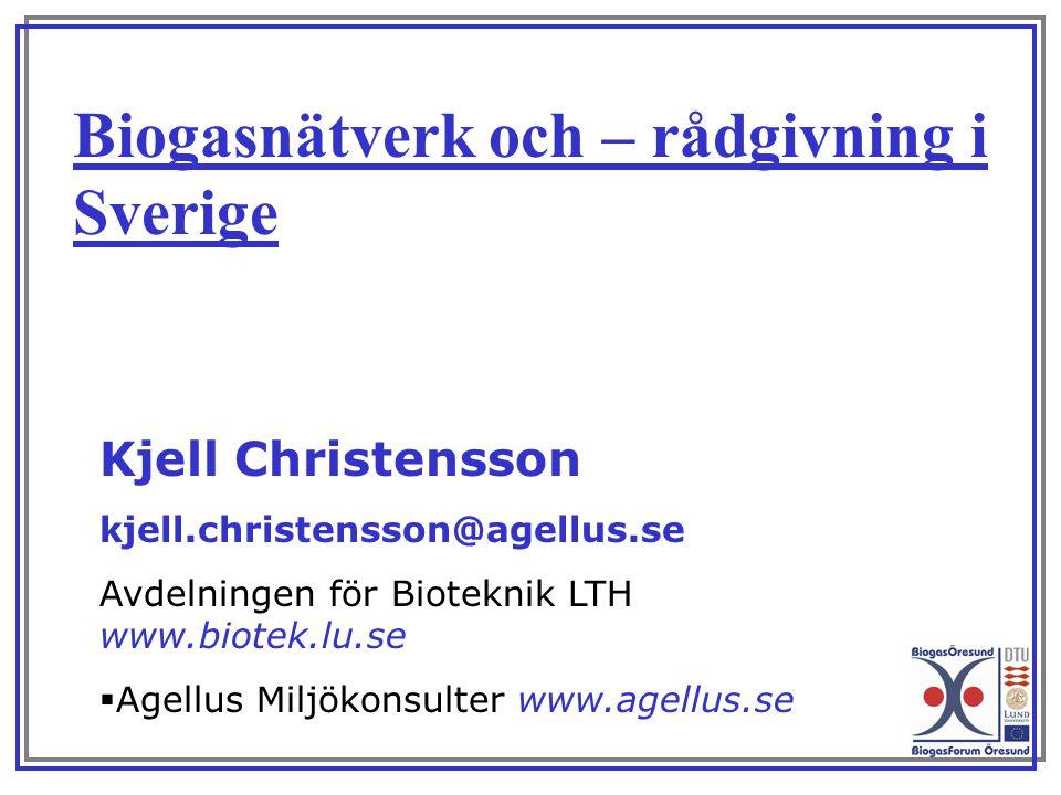 Biogasnätverk och – rådgivning i Sverige